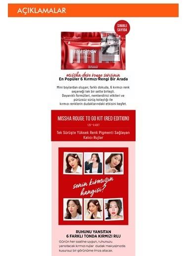 Missha Yoğun Pigmentli Special  Boy Ruj Seti Rouge To Go Kit (Red Edition) Renksiz